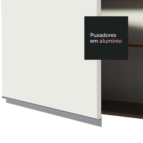Imagem de Armário Aéreo Madesa Glamy 60 cm 1 Porta - Rustic/Branco