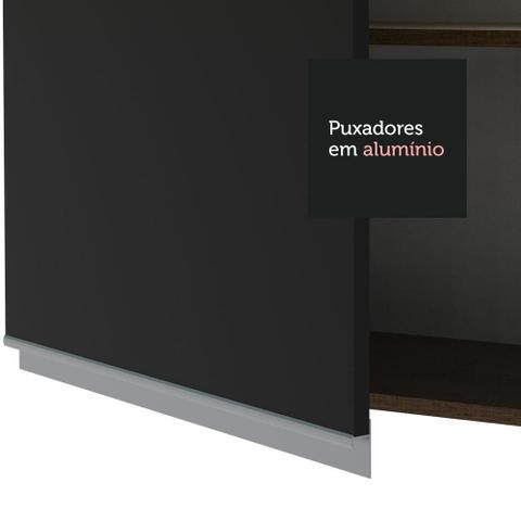Imagem de Armário Aéreo Madesa Glamy 60 cm 1 Porta - Rustic/Preto