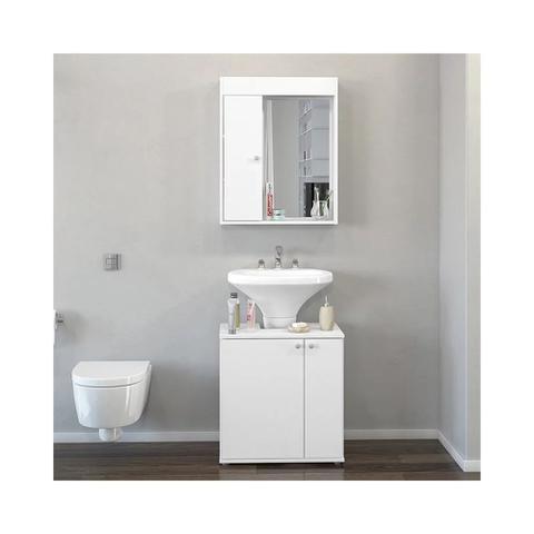 Imagem de Armário Aereo Para Banheiro C/ Espelho - Politorno