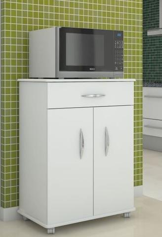 Imagem de Armário Balcão Gabinete Multiuso de Cozinha com 1 gaveta, 2 portas e 1 prateleira - Branco