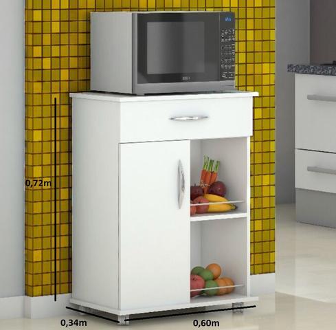 Imagem de Armário Balcão Para Microondas Fruteira Bebedouro Cozinha