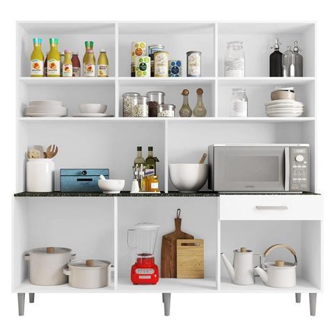 Imagem de Armário De Cozinha 12 Portas Clara Branco Poliman