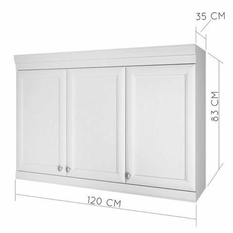 Imagem de Armario de cozinha 3 portas Nesher Americana 120 cm - Branco