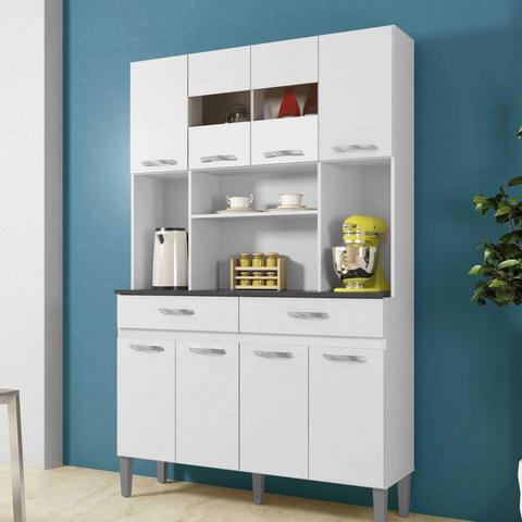 Imagem de Armário de Cozinha 8 Portas 2 Gavetas Ônix CHF Branco