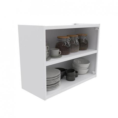 Imagem de Armário de Cozinha Aéreo Colormaq Roma 2 Portas 52,5x70cm em Aço e Vidro