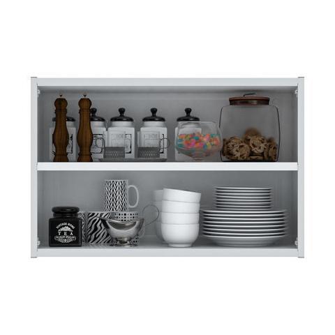 Imagem de Armário de Cozinha Aéreo Colormaq Verona 2 Portas 52,8x80cm em Aço e Vidro