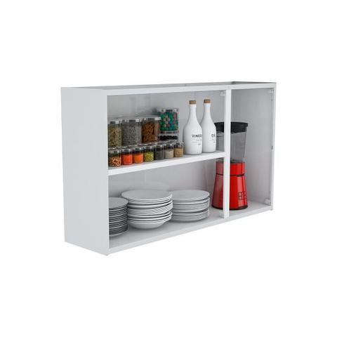 Imagem de Armário de Cozinha Aéreo Colormaq Verona 3 Portas 70x120cm em Aço e Vidro