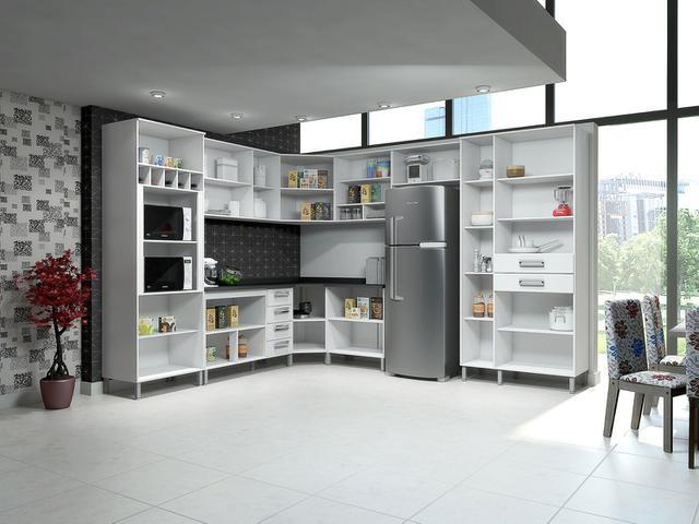 Imagem de Armário de Cozinha Aéreo de Canto Somopar Letícia