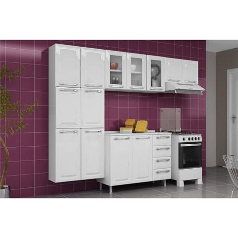 Imagem de Armario de Cozinha Aereo Itatiaia Criativa 3 Portas 3 Vidros Branco IPV3-105