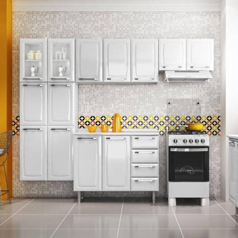 Imagem de Armario de Cozinha Aereo Itatiaia Criativa 3 Portas Branco IP3-105