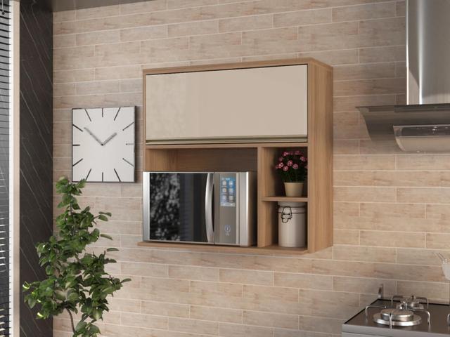 Imagem de Armário de Cozinha Aéreo Luciane Parma Mel