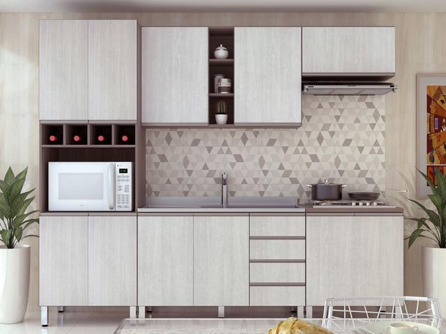 Imagem de Armário de Cozinha Aéreo Luciane Prime Siena