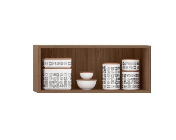 Imagem de Armario de Cozinha Aereo Vancouver de Geladeira 1 Porta Montana com Branco - Madine Móveis