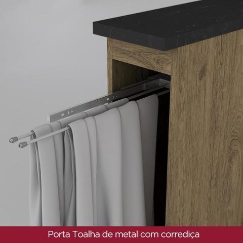 Imagem de Armário de Cozinha Balcão Porta Toalha 200mm Integra Rústico