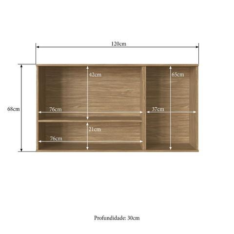 Imagem de Armário de Cozinha completo 3pc 1,85m Bélgica A3097 Casamia