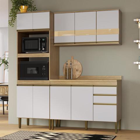 Imagem de Armário de Cozinha completo 4pc 1,85m Casablanca A3491 Casamia