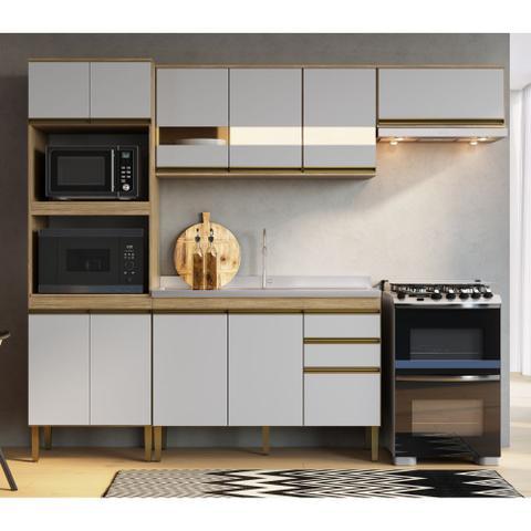 Imagem de Armário de Cozinha completo 4pc 2,55m Casablanca A3496 Casamia