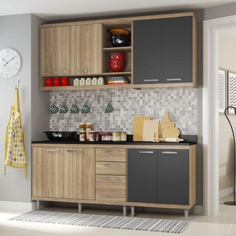 Imagem de Armário de Cozinha Completo 5 peças 1,90m 5819 Linha Sicília Multimóveis