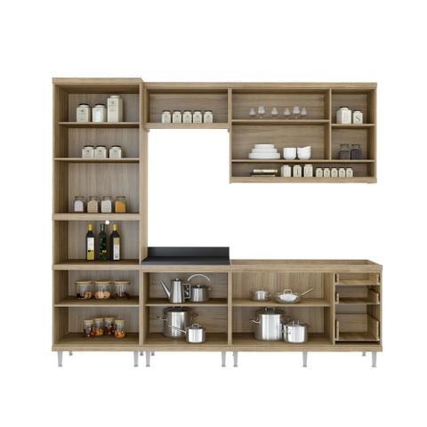 Imagem de Armário de Cozinha Completo 5 peças sem tampo de pia 2,60m 5808 Linha Sicília Multimóveis