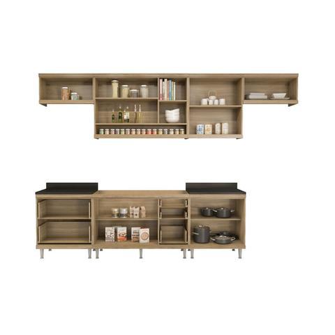 Imagem de Armário de Cozinha Completo 7 peças sem tampo de pia 3,30m 5800 Linha Sicília Multimóveis