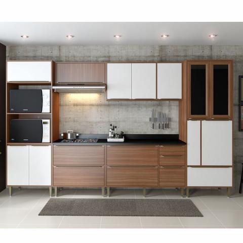 Imagem de Armário de Cozinha Completo 7pc 3,30m Calábria 5450 Multimóveis