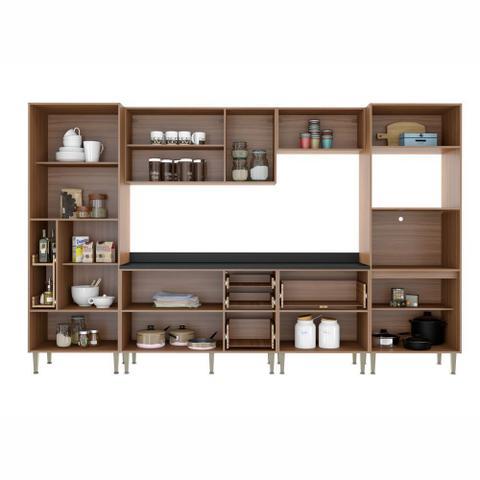 Imagem de Armário de Cozinha Completo 7pc 3,30m Calábria 5451 Multimóveis