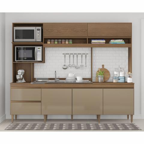 Imagem de Armário de Cozinha Completo Anitta 2,40m 0325 Soluzione Móveis