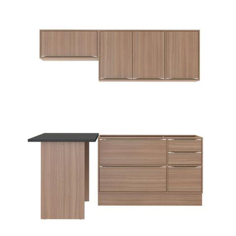 Imagem de Armário de Cozinha Completo com Rodapé sem Tampo 5pc 1,90m Calábria 5460R Multimóveis