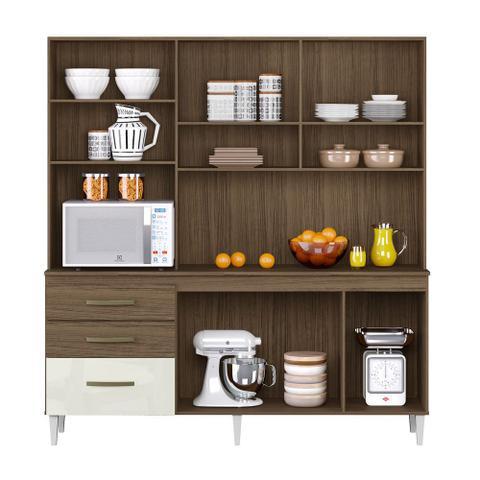 Imagem de Armario de Cozinha Completo Lory Ambar/Off White
