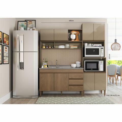 Imagem de Armário de Cozinha Completo Milena 1,85m 0323 Soluzione Móveis