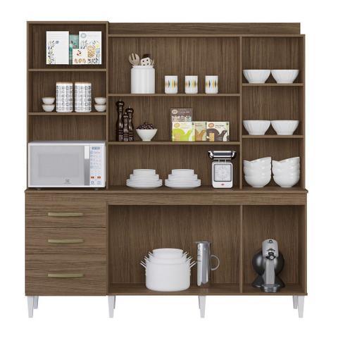 Imagem de Armário de Cozinha Completo Mirela Ambar/Off White