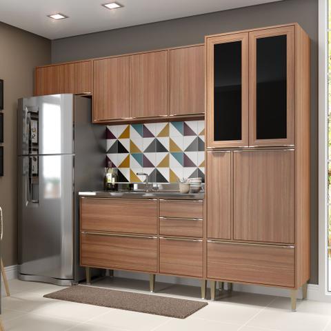 Imagem de Armário de Cozinha Completo sem Tampo 4pc 2,60m Calábria 5453 Multimóveis