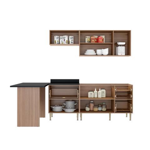 Imagem de Armário de Cozinha Completo sem Tampo 5pc 2,58m Calábria 5455 Multimóveis