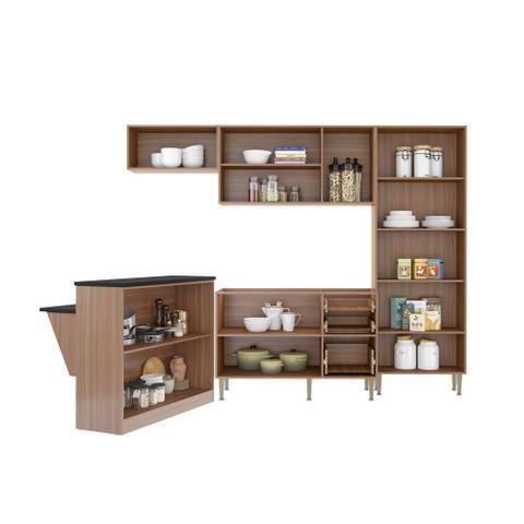 Imagem de Armário de Cozinha Completo sem Tampo 5pc 2,60m Calábria 5464 Multimóveis