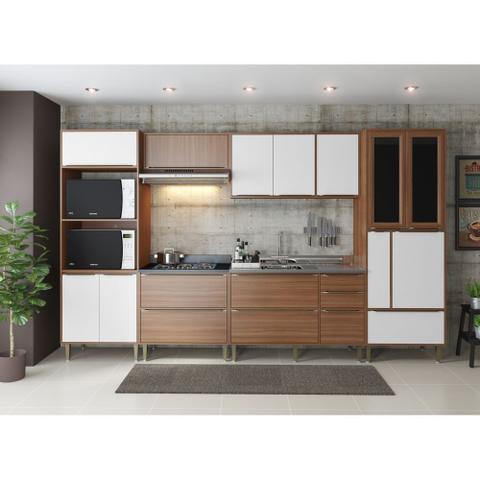 Imagem de Armário de Cozinha Completo sem Tampo 6pc 3,30m Calábria 5450 Multimóveis