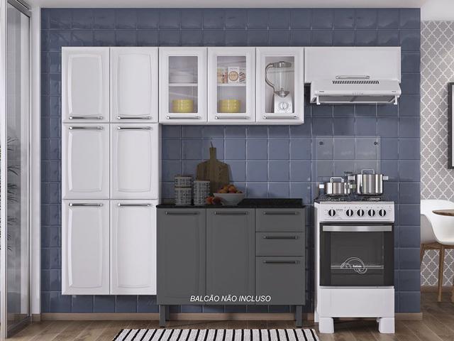 Imagem de Armário de Cozinha Itatiaia Luce - 10 Portas - Branco