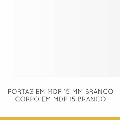 Imagem de Armario de cozinha Nesher Americana Armario 2 Portas 80 cm - Branco