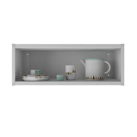 Imagem de Armário de Parede Colormaq Ipanema 1 Porta Basculante em Aço Branco e Preto