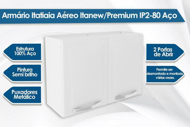 Imagem de Armário Itatiaia Aéreo Itanew/Premium IP2-80 Aço Branco