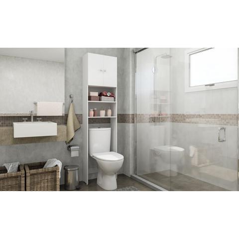 Imagem de Armário Multimóveis p/ Banheiro 2 Portas Branco REF. 2540.131