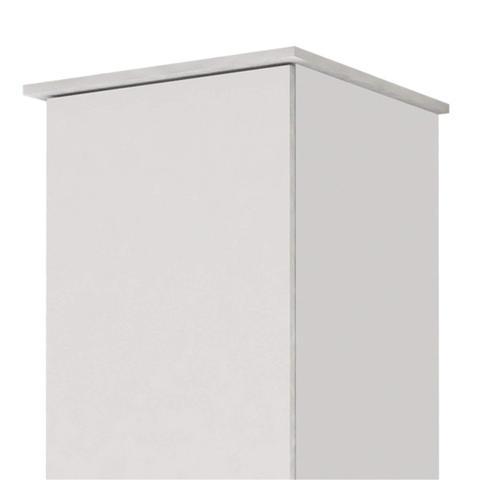 Imagem de Armário Multiuso 1 Porta Jasmim Kaiki Móveis Branco