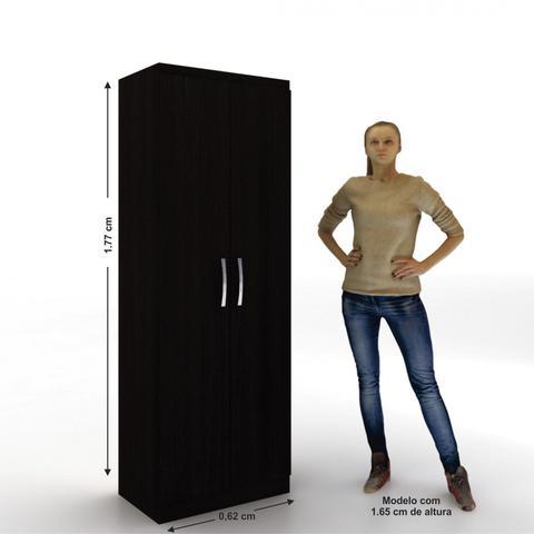 Imagem de Armário Multiuso 2 Portas e 4 Prateleiras Milão Evidência Móveis Tabaco