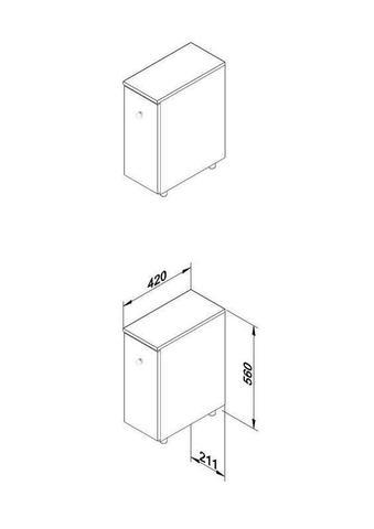 Imagem de Armário Para Banheiro Com 1 Gavetão Branco