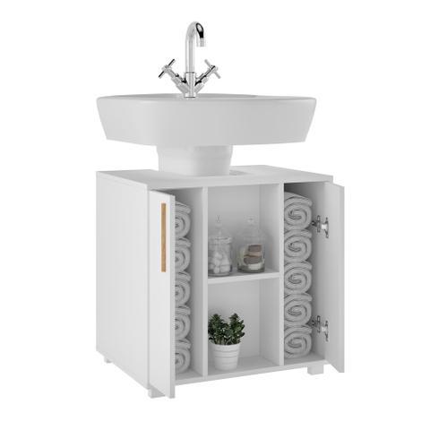 Imagem de Armário para Banheiro Suzanna 2 PT Branco