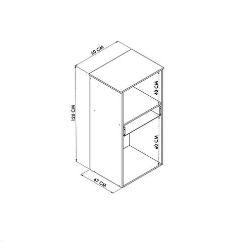 Imagem de Armário Para Forno E Microondas 2 Portas Branco