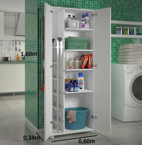 Imagem de Armário para Lavanderia 2 Portas Multiuso Área Serviço