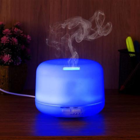 Imagem de Aromatizador Difusor Aromas Elétrico Usb Led 7 Cores Oleo Essencial Aromaterapia 300ml