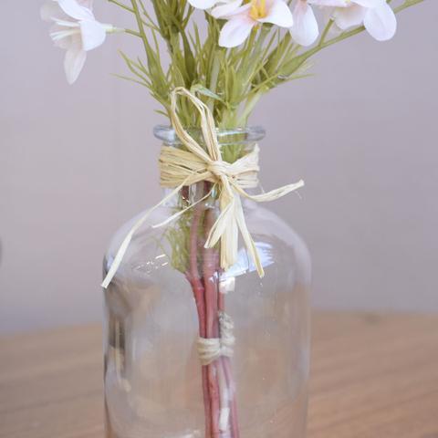 Imagem de Arranjo Artificial de Flores Campo no Vaso de Vidro Delicado  Formosinha