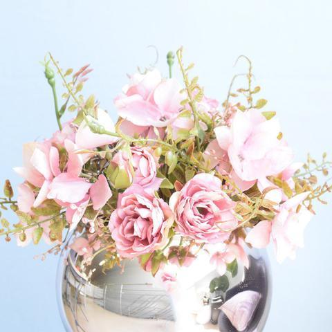 Imagem de Arranjo de Flor Artificial Rosas no Vaso Rose Gold  Formosinha