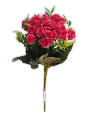 Imagem de Arranjo de Flores Artificial Botão de Rosa Pequeno 30cm Além Mar
